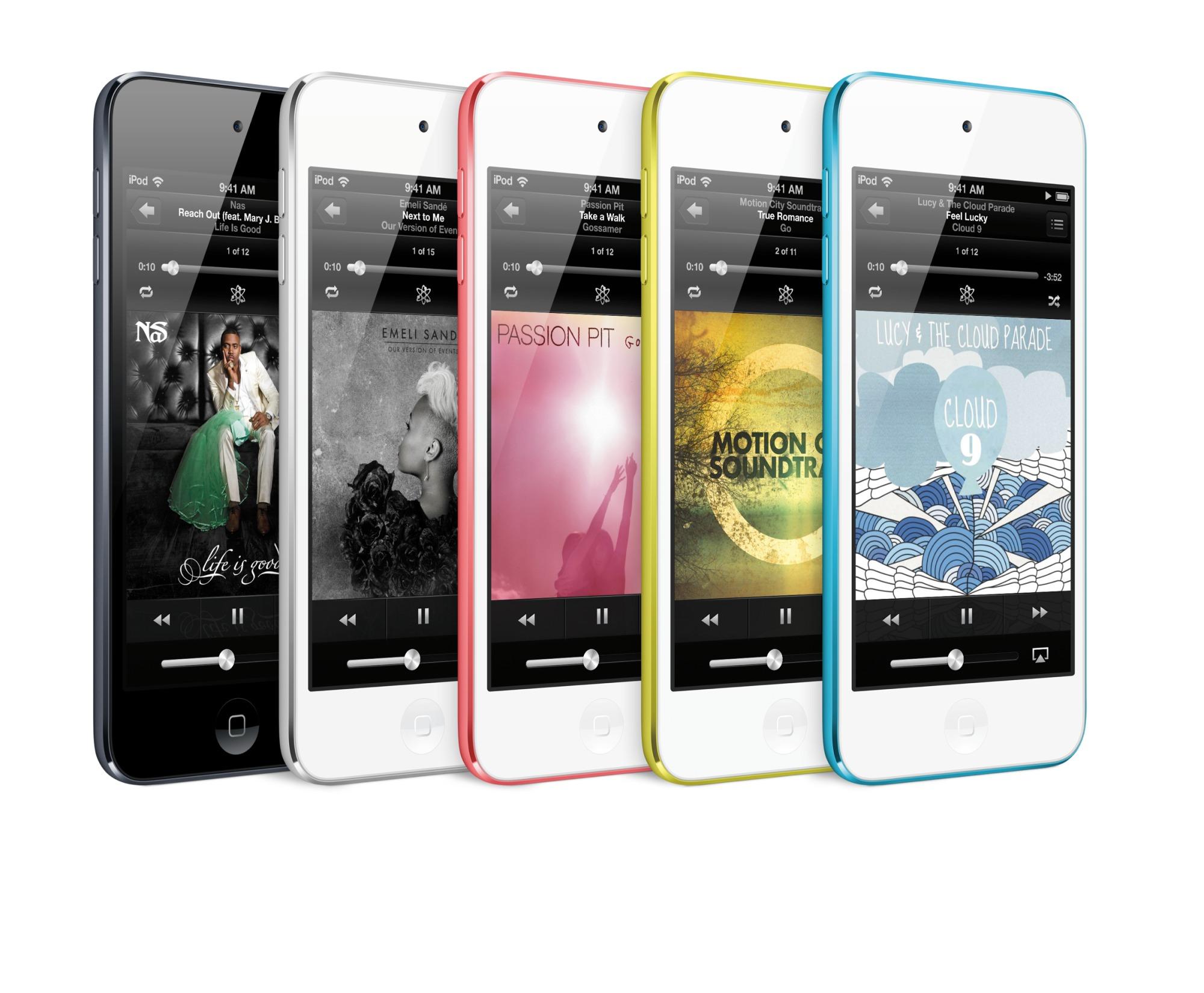 De nieuwe iPod touch erft het Retina-dsiplay van de iPhone 5 en komt met spraakassistent Siri.