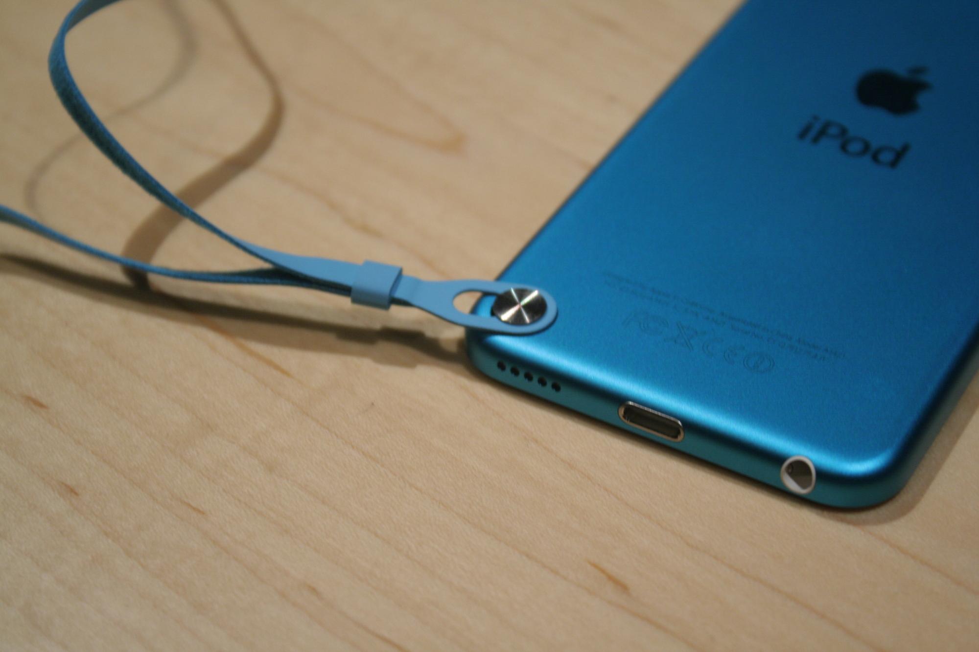 Het polsbandje van de nieuwe iPod touch