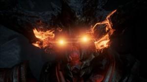 In de Elemental tech-demo ontwaakt een brandende demon, uiteraard vergezeld van mooie particle effects.