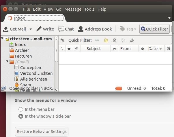 Ubuntu 14.04 verplaats de titelbalk
