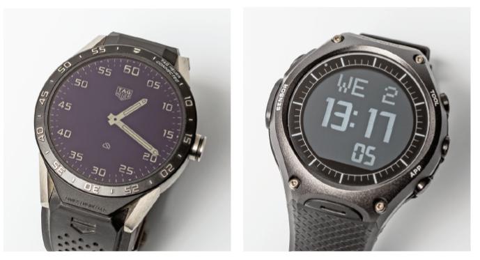 De Tag Heuer Connected (links) en de WSD-F10 van Casio