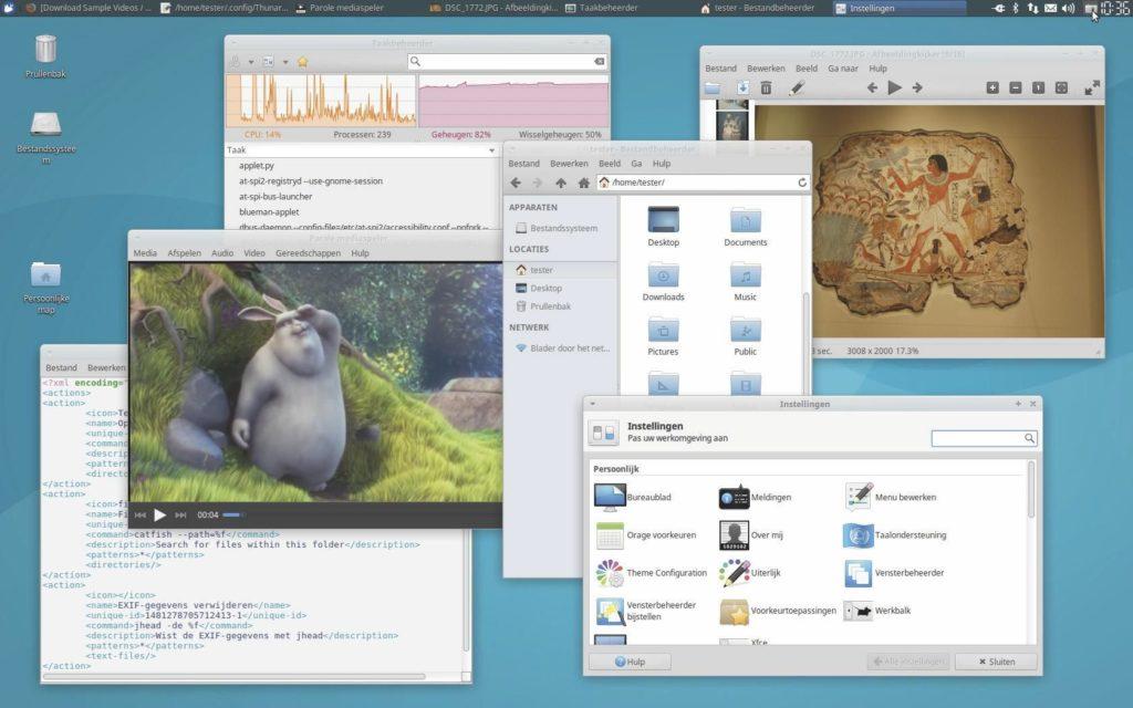 Linux-desktop Xfce
