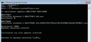 Als het script zijn werk heeft gedaan (hier bij een 64-bit Windows 7) moet je de pc opnieuw opstarten.