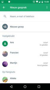 chat app bellen Hangouts