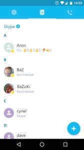 bellen chat app Skype