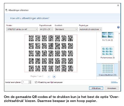 QR-codes printen