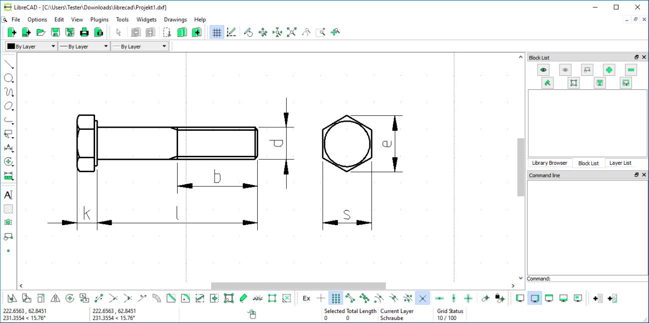 ontwerpen met LibreCAD