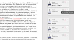 LibreOffice Online wijzigingen