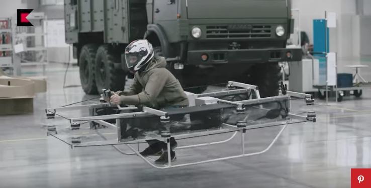 Vliegende auto van Kalashnikov