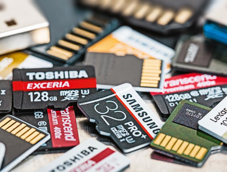 geheugenkaart microSD test