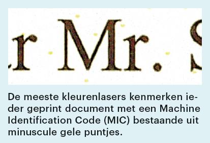 vertrouwelijk document printen identificatie