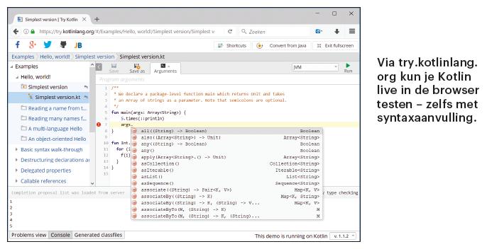 Programmeren voor Android met Kotlin - web