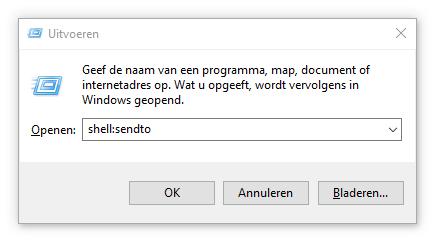 Windows-map snel openen afkorting code