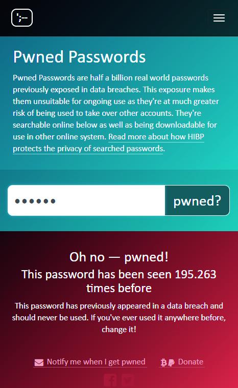 wachtwoorden gehackt onveilig lijst