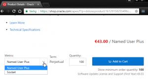 virtuele machine Oracle licentie zakelijk