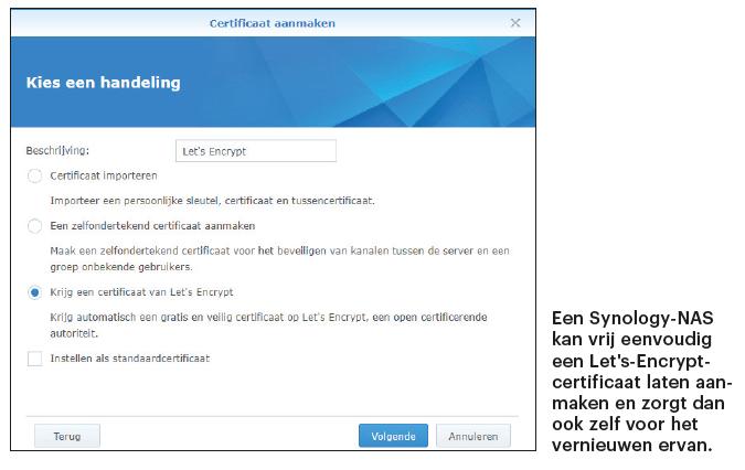 SSL-certificaat NAS instellen Synology