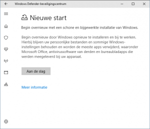 Windows herstellen repareren nieuwe start