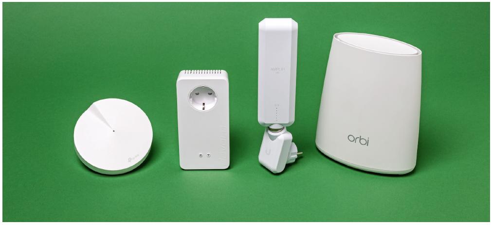 mesh-systeem repeater node wifi mesh draadloze verbinding netwerk Orbi stopcontact verlengsnoer