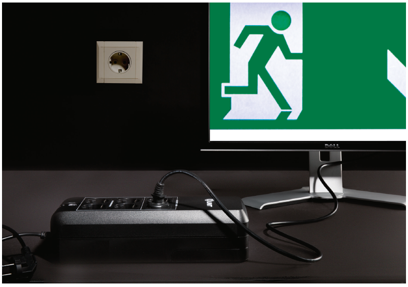 noodstroom voor pc UPS uninterruptible power supply noodstroomvoorziening stroomuitval door werken accu