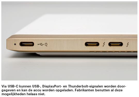 notebook kopen koopadvies laptop kiezen USB-C poort
