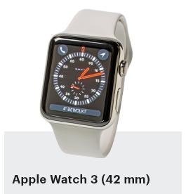 smartwatch getest Apple Watch 3 42 mm