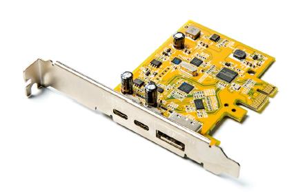 USB-C monitor aansluiten uitbreidingskaart DisplayPort PCIe