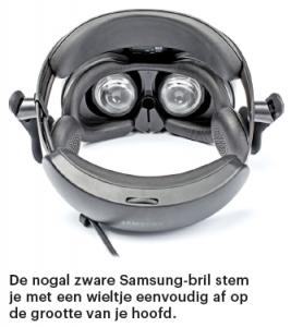 Windows VR-bril oled Samsung Odyssey afstelling hoofd