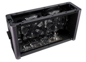 eGPU Thunderbolt koeling ventilator geluidsniveau grafische kaart.