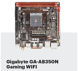 moederbord Ryzen AM4 Ryzen G Vega review test Gigabyte GA-AB350N