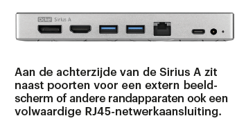 pocket-pc Ockel Sirius A poorten aansluitingen netwerk RJ45 mini-pc laptop