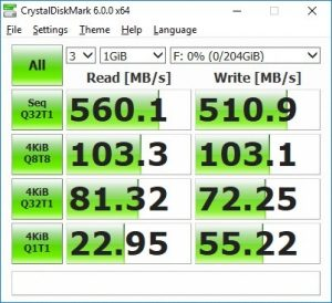ssd sneller TRIM CrystalDiskMark