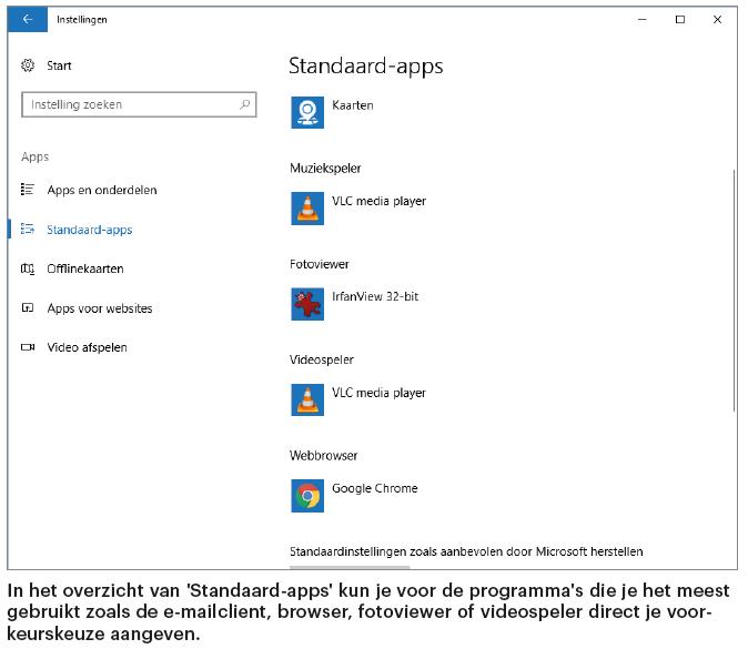 openen met programma bestand bestandstype Windows 10 Standaard-app Verkenner standaardprogramma bestandstype koppelen voorkeur instellen kiezen