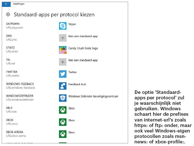 openen met programma bestand bestandstype Windows 10 Standaard-app per protocol prefix Verkenner standaardprogramma bestandstype koppelen voorkeur instellen kiezen