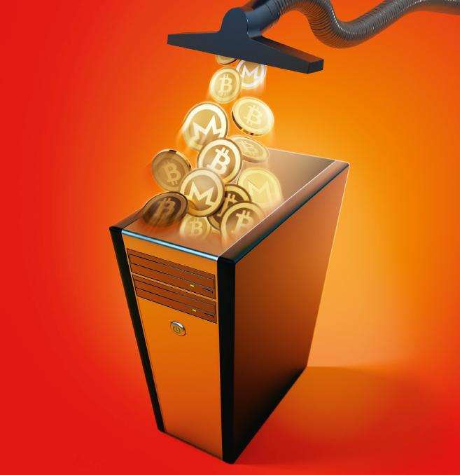 cryptomining cryptominer malware browser pc actief overbelast virus Monero Bitcoin cryptovaluta