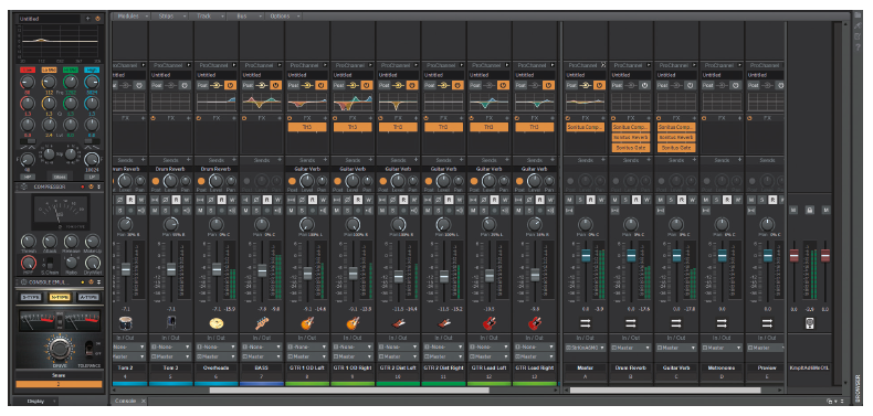 muziek maken mixer mengpaneel software Cakewalk Bandlab DAW VST audio channel strip