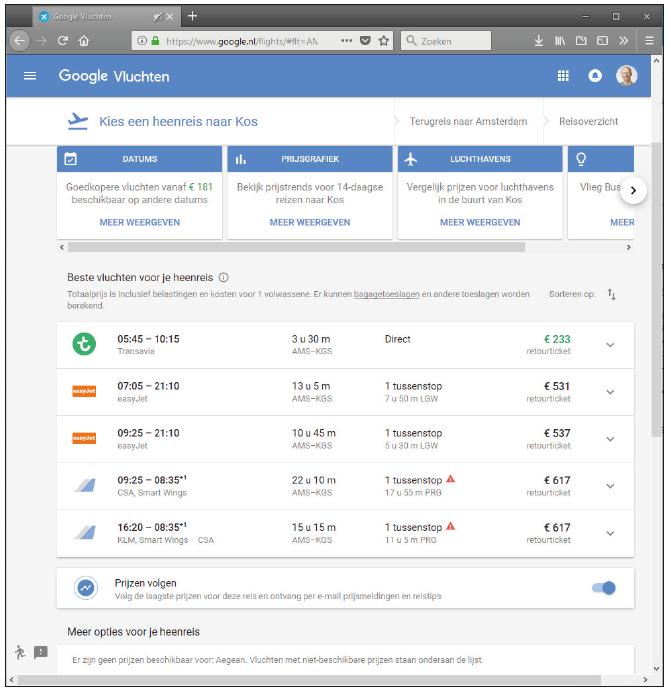 online vakantie plannen reis website vlucht huurauto hotel claim korting portal klantenkorting vliegreis ticket datum