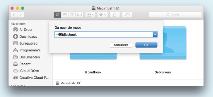 onzichtbare gebruikersbibliotheek macOS