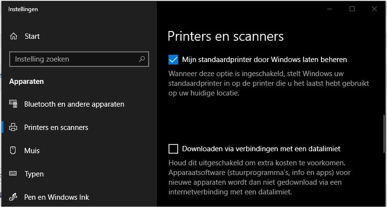 Windows verkeerde printer afdrukken standaardprinter