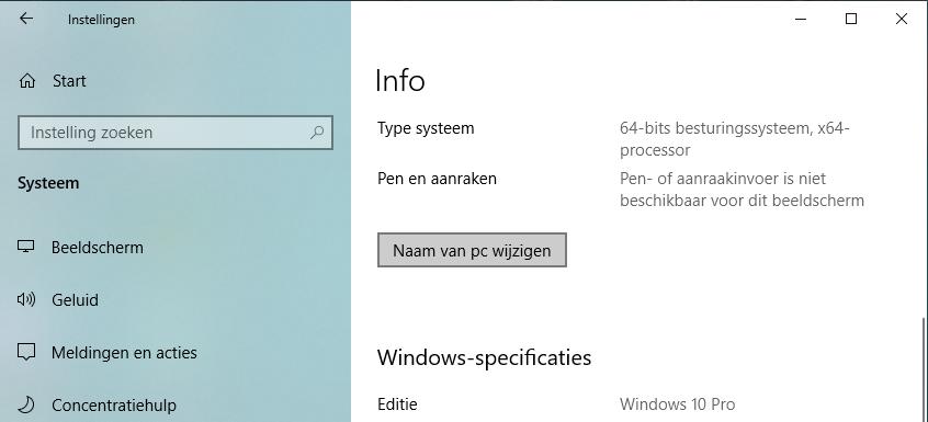 pc naam wijzigen netwerk Windows computernaam
