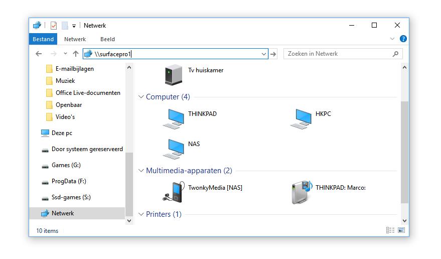 Thuisnetwerk instellen voor Windows 10, zonder Thuisgroepen