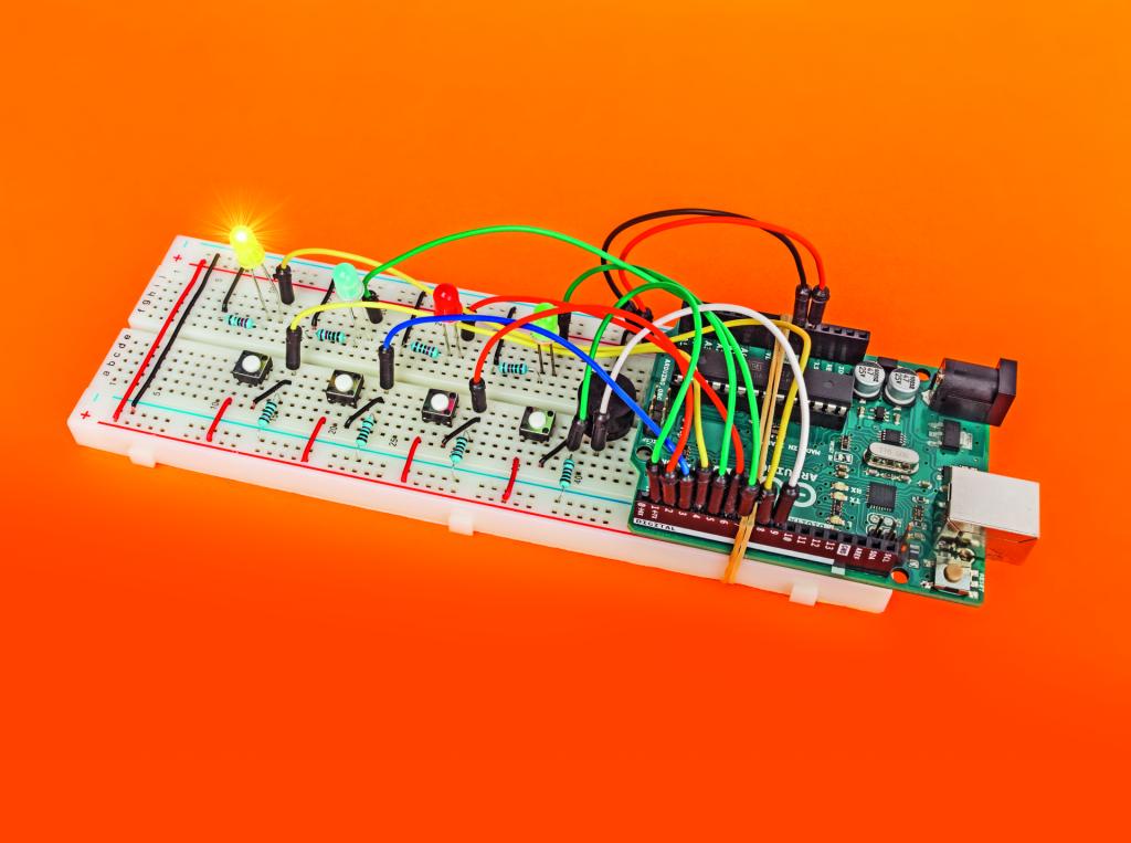Arduino project spel zelfbouw Simon