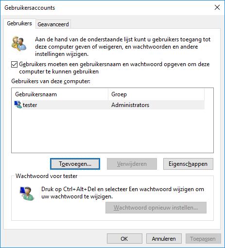 Nieuwe gebruiker maken zonder Windows account