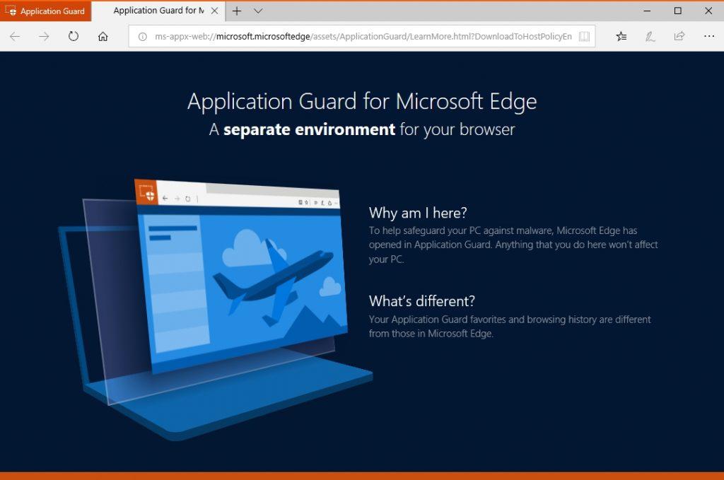 Windows beveiligen Application Guard Edge