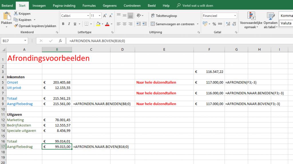 Excel werkbladen efficiënt gebruiken afronden afronding nauwkeurig