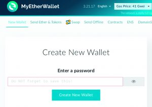 MyEtherWallet interface