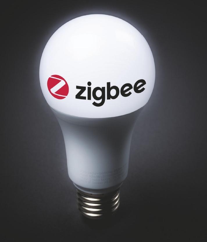 Zigbee lamp met logo
