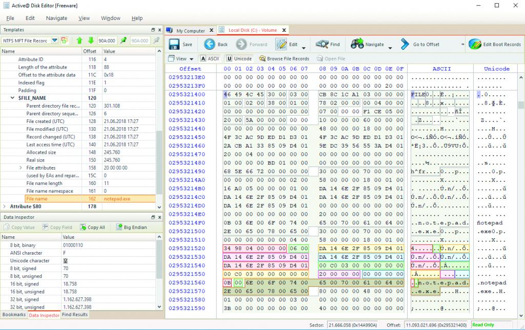 bestanden terughalen data recovery herstel Active Disk Editor partitie tabel