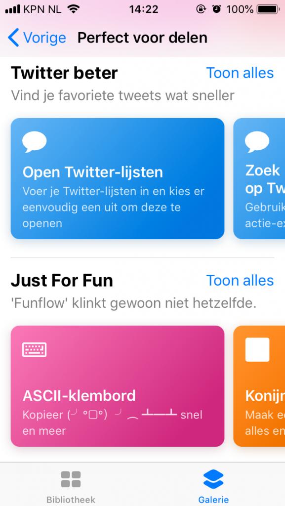 Opdrachten iPhone iPad Galerie app