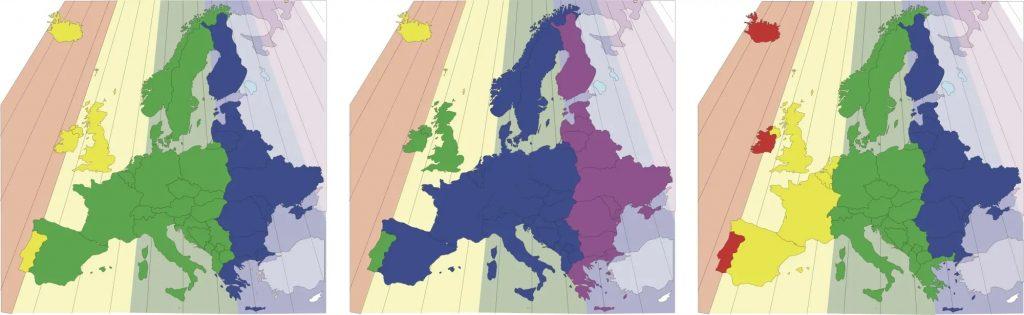 Tijdzones Europa