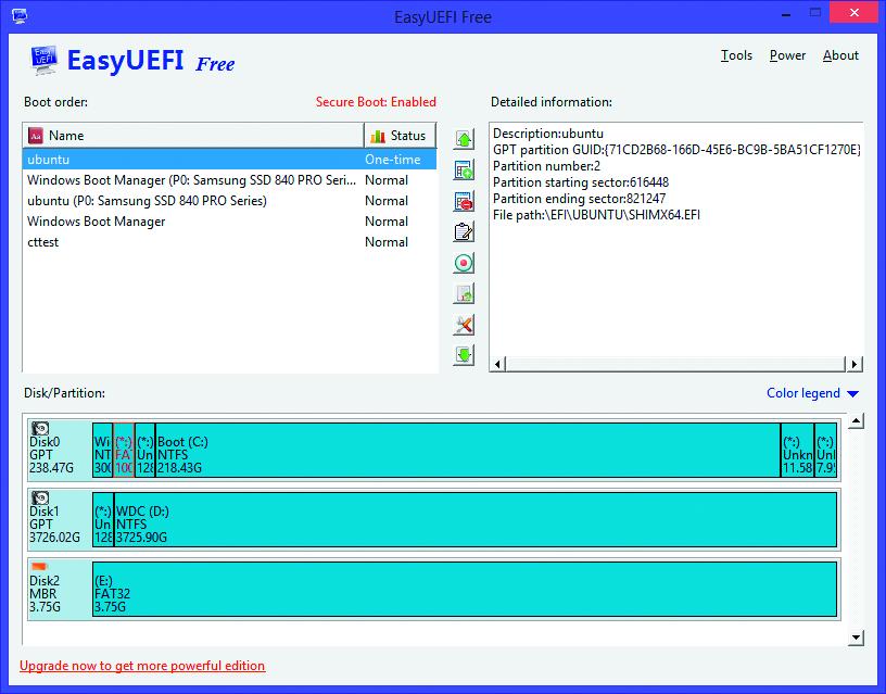 UEFI BIOS instellen boot volgorde wijzigen aanpassen EasyUEFI